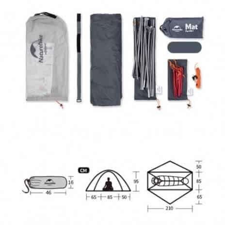 אוהל חד שכבתי VIK 15D